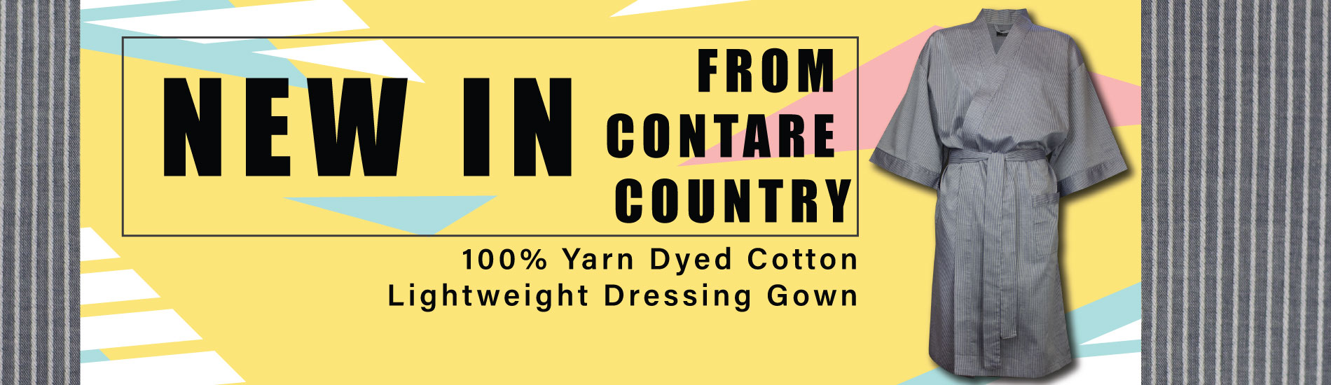 Contare-Country-Summer-Gown-Blue-Stripe